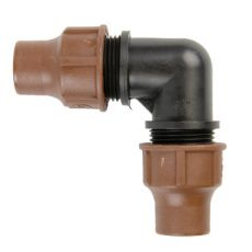 Отвод для капельного шланга (компр.) BF-22 lock
