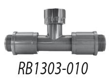Т-образный фитинг с 2 поворот.соедин.1'' НР X муфта 1'' ВР 1303-010