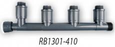 Коллектор с 4 выходами 1'' ВР X 4 пов.соед.1''НР X муфта 1''НР 1301-410