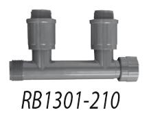 Муфта 1'' ВР X 2 поворотных соединения 1'' НР X муфта 1'' НР 1301-210